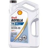 Shell Rotella T4 15W-40 Heavy Duty Diesel Oil, 1-gallon