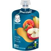 Gerber Toddler Food, Apple Pear Peach, 3.5 oz. Pouch