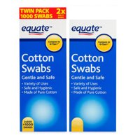 (2 Pack) Equate Cotton Swabs, 1000 count