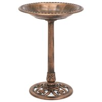 Best Choice Products Outdoor Garden Pedestal Bird Bath Vintage Decor - Copper
