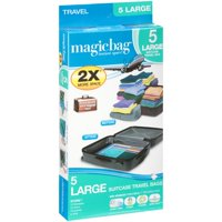 Magicbag® Suitcase Travel Bags Large 5 ct Box