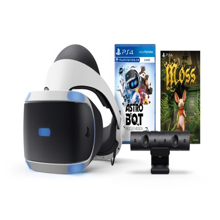 Sony PlayStation 4 VR, ASTRO BOT Rescue Mission + Moss Bundle, Black, (Best Vr Headset For Ps4)