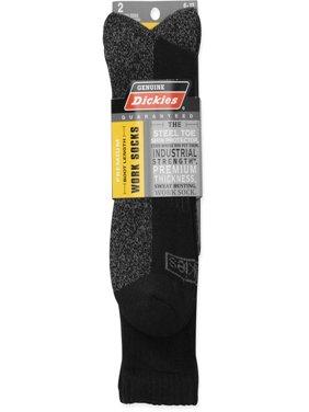 Men's Boot Length Crew Socks, 2-Pack