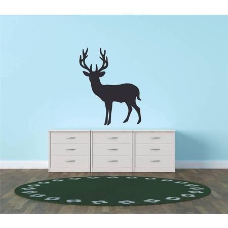 Decal - Vinyl Wall Sticker : Deer Buck Hunting Wild Animal - 20x20