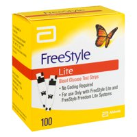 FreeStyle Lite Blood Glucose Test Strips, 100 Ct