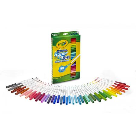 Crayola Super Tips Washable Markers, 50 Count](Crayola Window Markers)