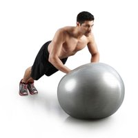 Ktaxon 65 cm Exercise Fitness Anti Burst Yoga Ball with Air Pump, for Medicine, Stability, Balance, Pilates Training, Home Gym Use