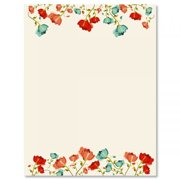 94de0b9715bf Poppies Easter Letter Papers - Set of 25 spring stationery papers are 8 1 2