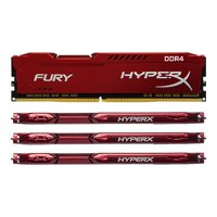 Kingston Technology HyperX FURY Red 64GB 2933MHz DDR4 CL17 DIMM(Kit of 4) HX429C17FRK4/64
