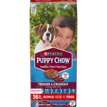 Purina Puppy Chow Tender & Crunchy Dry Puppy Food - 36 lb.