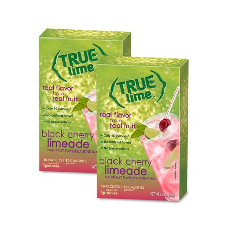 Dichroic Black Cherry (True Lime Black Cherry Limeade Drink Mix, 1.06 Oz., 10 Count )