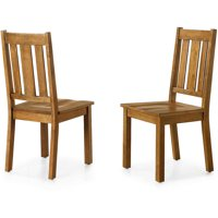 Better Homes and Gardens Bankston Dining Chair, Set of 2, Honey