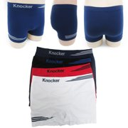 6330ce4452a9 6pk Mens Seamless Boxer Briefs Microfiber Underwear Knocker Flames MS007  New !