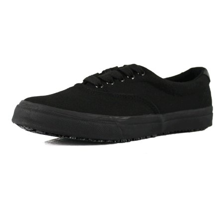 OwnShoe Black Sunbrella Slip and Water Resistant Non-slip Shoes (Black Non Slip Shoes Women)