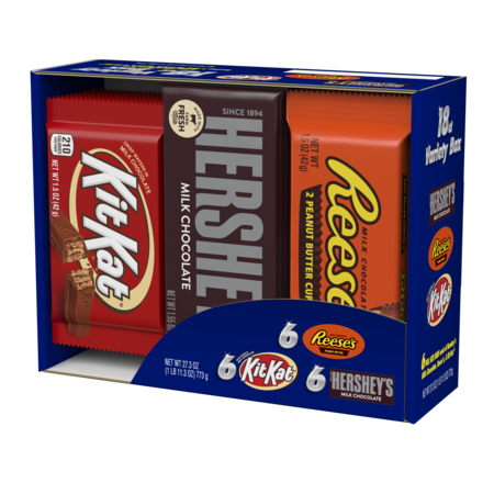 Hershey's, Full-Size Bars Variety Candy Pack, 18 count