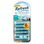 Refresh Your Car Air Freshener, Vent Stick, Summer Breeze/Alpine Meadow Scents, 6-Pk.