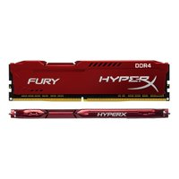 Kingston Technology HyperX FURY Red 16GB 3200MHz DDR4 CL18 DIMM 1Rx8 (Kit of 2) HX432C18FR2K2/16