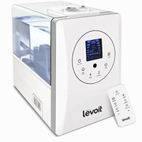 LEVOIT Humidifiers, 6L Warm and Cool Mist Ultrasonic Humidifier for Bedroom or Biy's Room with Remote and Humidity Monitor, Vaporizer for Large Room, Home, Waterless Auto Shut-off