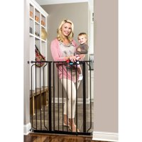 Regalo Extra Tall Easy Step Walk Thru Baby Gate, Black, 41 Inches Tall