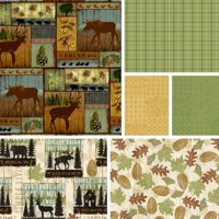 """David Textiles Mountain Pines & Lodge Collection 44"""" Quilting Cotton Fabric By The Yard"""