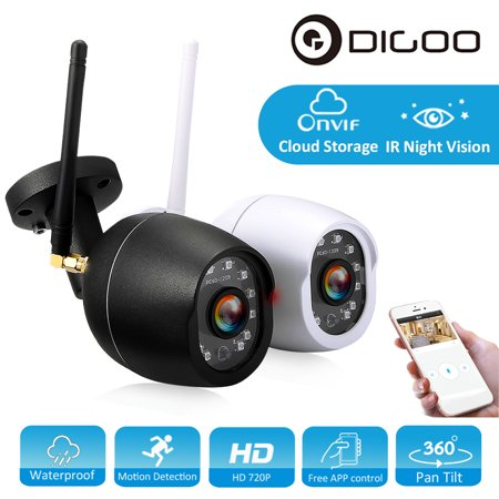 DIGOO Indoor Outdoor 720P Wireless WiFi Network IP Camera ,Baby Home Security Monitor, Waterproof CCTV, Cloud Storage Pan Tilt &Night Vision Motion Detection &APP