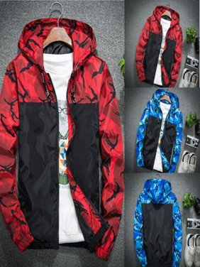 Hot Men Winter Luxury Camouflage Coat Hoodies Jacket Clothing Windbreaker Male Outwear