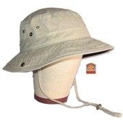 Dorfman Pacific Outdoor Khaki   Black Garment Washed Twill Bucket Hat Large c43c1cbfb0a6