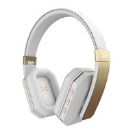 Wireless Bluetooth Headphones, Ghostek soDrop 2 Series aptX Over-Ear Headset with Noise Reduction | Bluetooth 4.0 | HD Clear Sound | Built-In Mic | Bass Drop | Hands-Free | Brushed Aluminum & Leather