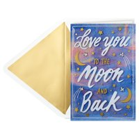 Hallmark Signature Valentine's Day Card (To the Moon and Back)