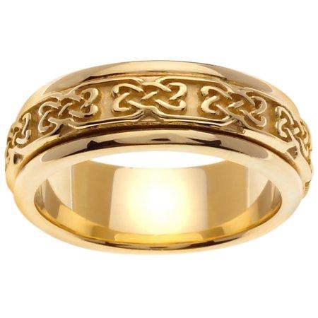 14K Gold Infinity Knot Celtic Comfort Fit Men