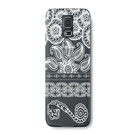 India Henna Tattoo Style Phone Case for the Samsung Note 4 - Floral Pattern (Samsung Note 4 White Price In India)