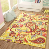 Sweet Home Stores Paisley Design Non-Slip Rubber Backing Area or Runner Rug