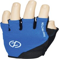 Zero Friction Men's Half Finger Cycling Gloves, Pair, Blue