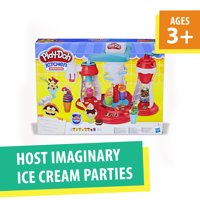 Play-Doh Kitchen Creations Ultimate Swirl Ice Cream Maker Food Set with 8 Cans of Dough