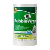 Duck Original 3/16 inch Bubble Wrap Cushioning, 12 in. x 30 ft., Clear