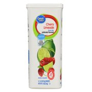 (12 Pack) Great Value Drink Mix, Cherry Limeade, Sugar-Free, 1.9 oz, 6 Count