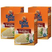 (3 Pack) UNCLE BEN'S Boil-in-Bag: Whole Grain Brown Rice, 14oz