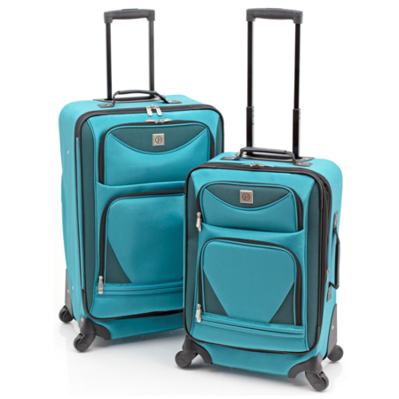 Protege 2-Piece Expandable Spinner Set Luggage (Best 4 Wheel Suitcase Review)