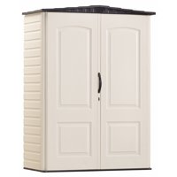 Rubbermaid 5 x 2 Resin Storage Shed, Sandstone & Onyx