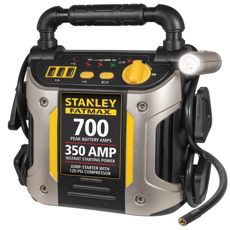STANLEY FATMAX 700/350 Amp Jump Starter w/120 PSI Compressor (The Best Car Jump Starter)
