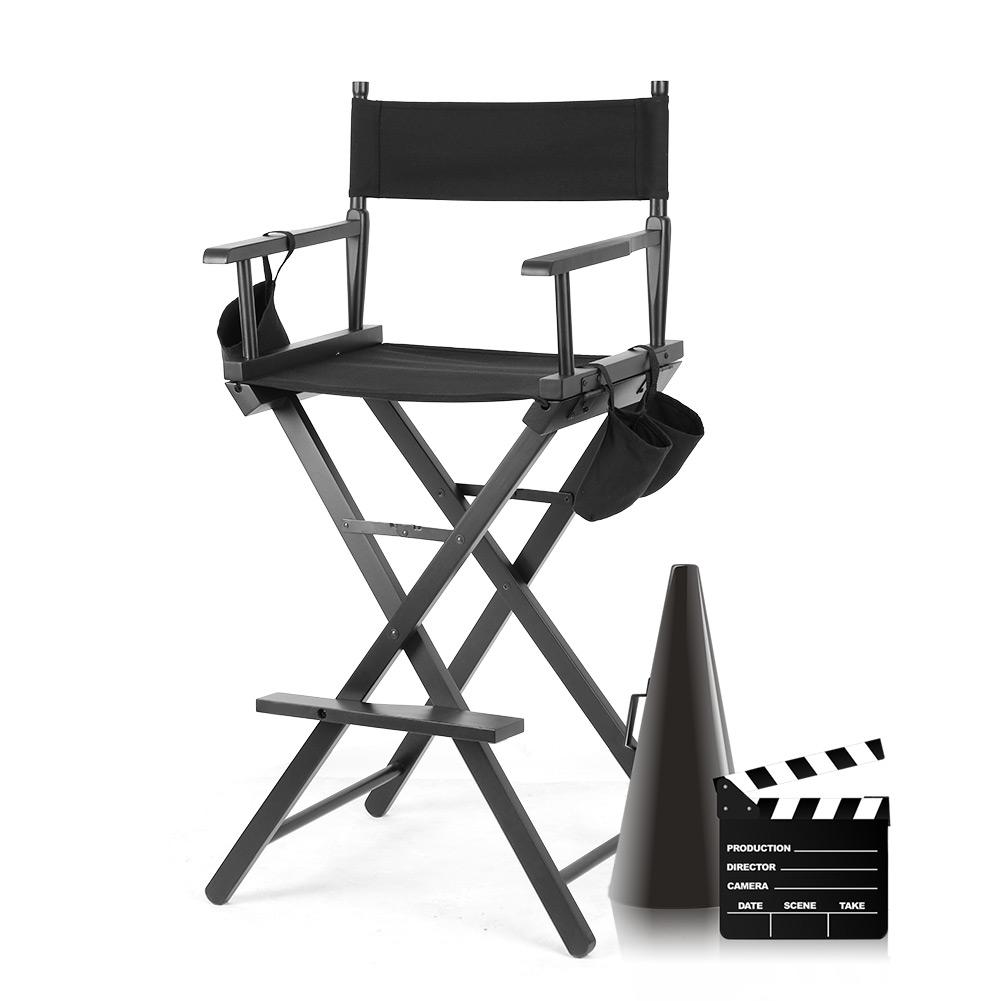 Makeup Chair,Ymiko Professional Makeup Artist Directors Chair Wood  Lightweight Foldable Chair