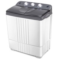 Costway Portable Mini Compact Twin Tub 16Lbs Total Washing Machine Washer Spain spinner