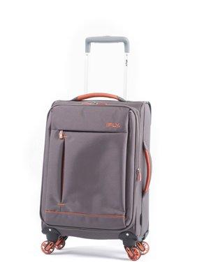 iFLY Soft Sided Luggage Summit 20, Gray/Orange