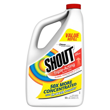 Shout Triple-Acting Liquid Refill 60 fl oz (Clorox 2 Liquid Stain Remover & Color Booster)