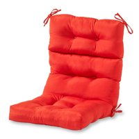 Greendale Home Fashions Solid Outdoor High Back Chair Cushion