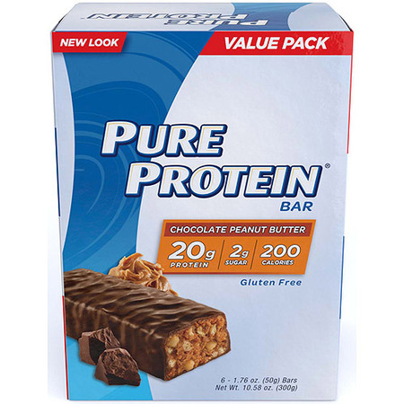 Protein Meal Bar (Pure Protein Bar, Chocolate Peanut Butter, 20g Protein, 6 Ct )