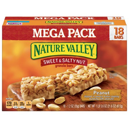 Nature Valley Sweet & Salty Nut Peanut Granola Bars 18 Count - Salty Snacks For Halloween