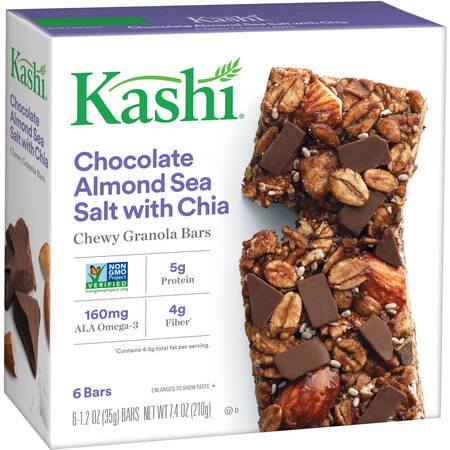 (4 Pack) Kashi Chewy Granola Bars Chocolate Almond Sea Salt 1.2 Oz - 6