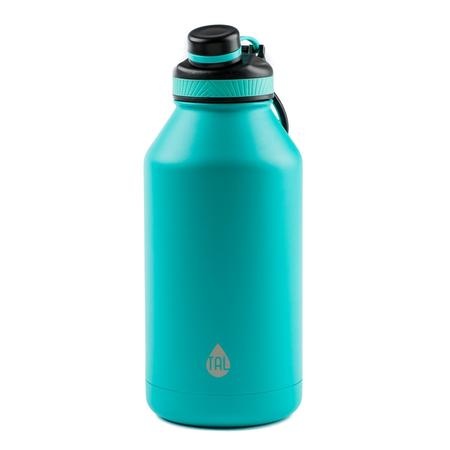 Folding Thermos Stainless Steel Bottle (Tal 64 Ounce Double Wall Vacuum Insulated Stainless Steel Ranger Pro Teal Water Bottle )