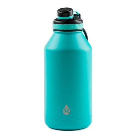 Tal 64 Ounce Double Wall Vacuum Insulated Stainless Steel Ranger Pro Teal Water Bottle ()